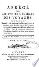 Abrégé de l'Histoire générale des Voyages continué par Comeiras