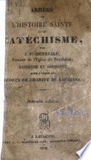 Abrégé de l'histoire sainte et du catéchisme