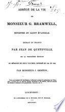 Abrégé de la vie de Mr. G. Bramwell, ministre du St. Evangile