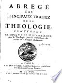 Abrégé des principaux traités de la théologie