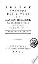 Abrégé historique des livres de l'ancien Testament