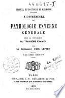 Aide-mémoire de pathologie