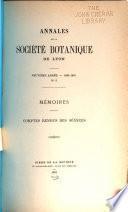 Annales de la Société botanique de Lyon