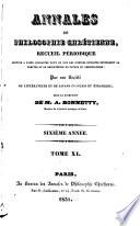 Annales de philosophie chrétienne