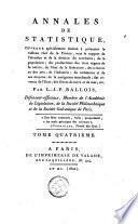 Annales de statistique, ou Journal général d'économie politique, industrielle et commerciale ; de géographie, d'histoire naturelle, d'agriculture, de physique, d'hygiène et de littérature
