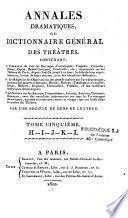Annales dramatiques ou dictionnaire général des théâtres