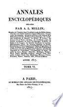 Annales encyclopediques red. par Aubin-Louis Millin. Vol 1-12