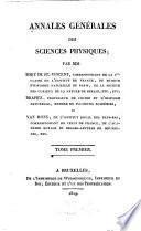 Annales generales des sciences physiques