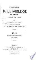 Annuaire de la noblesse de France et d'Europe