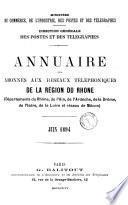 Annuaire officiel des abonnés au téléphone, département du Rhône (1892)