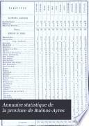 Annuaire statistique de la province de Buenos-Ayres