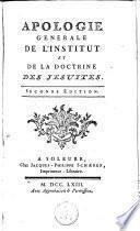Apologie générale de l'Institut et de la doctrine des jésuites