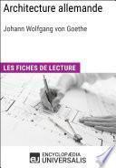 Architecture allemande de Goethe