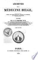 Archives de la médecine belge