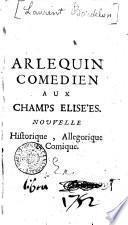 Arlequin Comedien Aux Champs Elisées