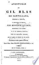 Aventuras de Gil Blas de Santillana robadas á España