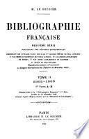 Bibliographie française: 1905-1909. 1911