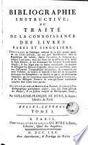 Bibliographie nistructive, Belles lettres, 1