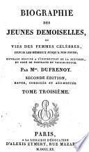 Biographie des jeunes demoiselles