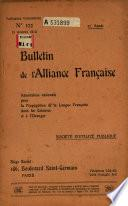 Bulletin de l'Alliance française