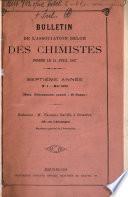 Bulletin de l'Association belge des chimistes