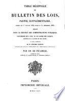 Bulletin des lois de l'Empire Français