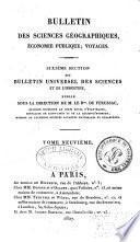 Bulletin des sciences géographiques, etc