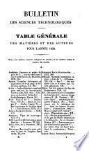 Bulletin universal des sciences et de l'índustrie