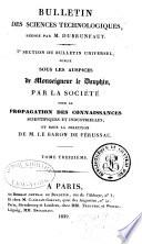 Bulletin universal des sciences et de líndustrie