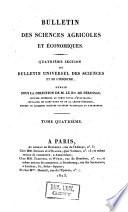 Bulletin universel des sciences et de l'industrie. 4