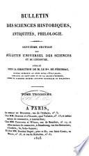 Bulletin universel des sciences et de l'industrie