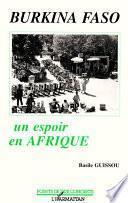 Burkina-Faso, un espoir en Afrique