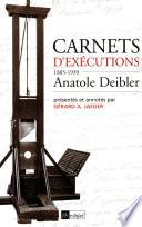 Carnets d'exécutions