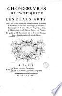 Chef-d'œuvres [sic] de l'antiquité sur les beaux-arts, gravés par B. Picart