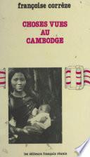 Choses vues au Cambodge