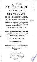 Collection complette des travaux de M. Mirabeau l'ainé a l'assemblée nationale