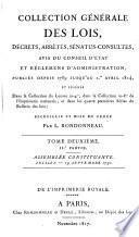 Collection générale des lois