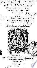 Commentaire de Henri de Linthaut ... sur le Tresor des tresors de Christofle de Gamon ...