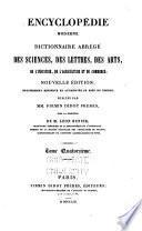 Compleḿent de l'Encycloped́ie moderne