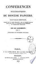 Conférences ecclésiastiques du diocèse d' Angers...
