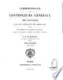 Correspondance des controleurs généraux des finances