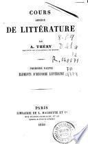 Cours abrègé de littérature