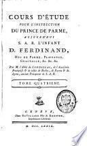 Cours d'étude pour l'enseignement du prince de Parme