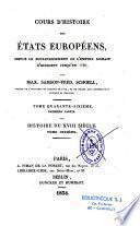 Cours d'histoire des états européens depuis le bouleversement de l'Empire romain d'Occident jusqu'en 1789