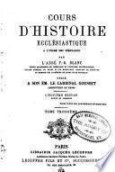 Cours d'histoire ecclesiastique