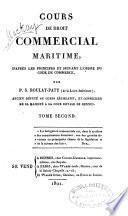 Cours de droit commercial maritime