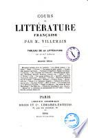 Cours de litterature francaise tableau de la litterature au 18. siecle par M. Villemain