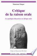Critique de la raison orale