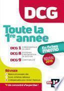 DCG : Toute la 1ère année du DCG 1, 8, 9 en fiches - Révision