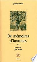 De mémoires d'hommes